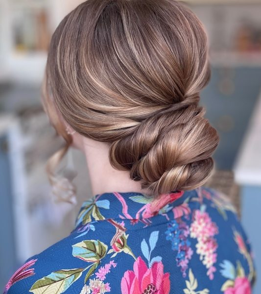 Wedding hair Twisted Bun