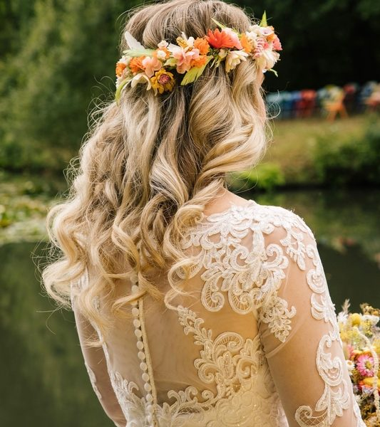 Wedding hair Hawarden Shoot